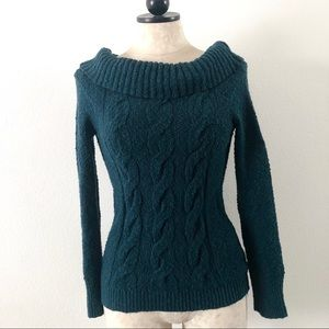 Free people cowl turtle neck knit sweater